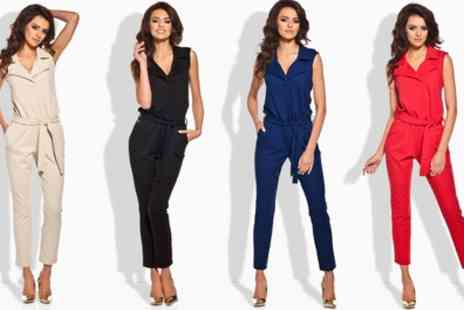 Groupon Goods Global GmbH - Womens Angie V Neck Jumpsuit - Save 48%