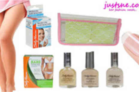 JustShe - All in one Sally Hansen hair removal kit and nail treatment - Save 83%