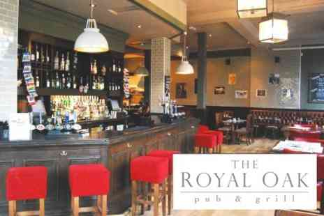 The Royal Oak Pub and Grill - Two Courses of Traditional Pub Fare for Two with Wine or Lager - Save 65%