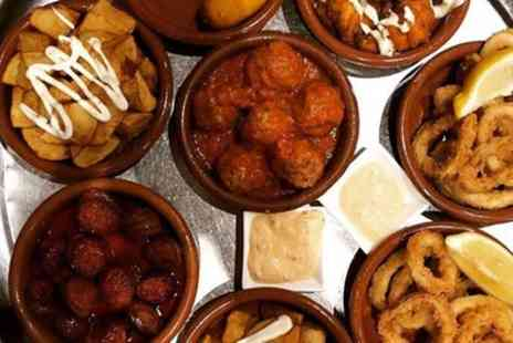 Picassodos - Tapas with Olives, Bread and Wine for Two or Four - Save 46%