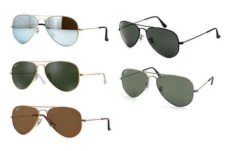 Best Watch Company - Polarised Ray Ban Aviator sunglasses choose from five designs - Save 35%