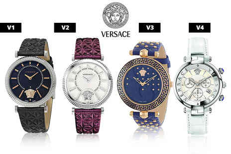 Mimo Deals - Ladies Versace leather watch choose from four designs - Save 55%