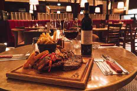 Middletons Steakhouse & Grill - Three course dining for two people with a bottle of house red or white wine to share - Save 52%