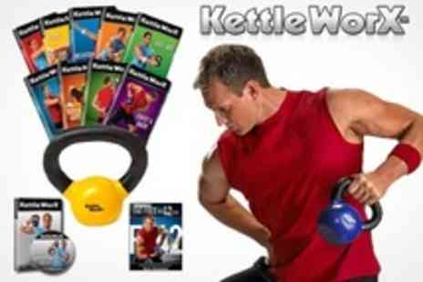 KettleWorx - Ultra 5 Workout DVD Pack Plus 10lb Kettlebell - Save 48%