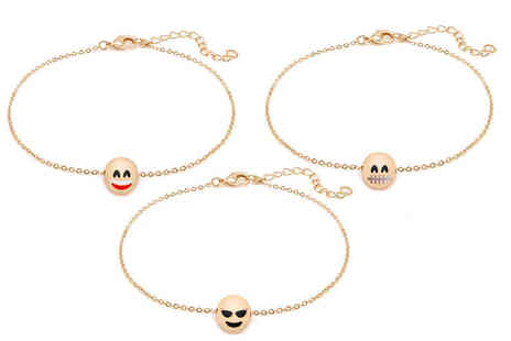 Lily Spencer London - Fun Face charm anklet choose from eight designs - Save 95%