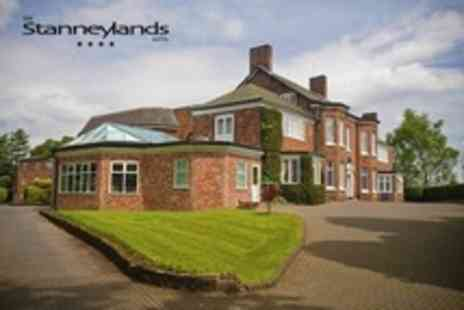The Stanneylands Hotel - Cheshire One Night Stay For Two With Afternoon Tea, Wine, and Breakfast - Save 54%