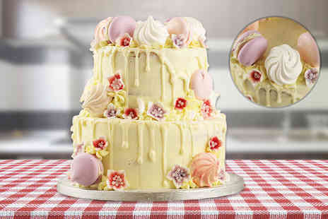 Buckleys Bakery - 8 or 12 inch personalised drip cake or two tier drip cake choose from three scrumptious sponge flavours, three delicious drip flavours - Save 75%