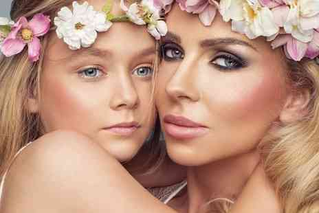 "Flawless Studios - Mother and daughter makeover photoshoot using MAC products with two 7"" x 5"" prints, Prosecco, a £50 gift voucher and chocolates for Mum - Save 82%"