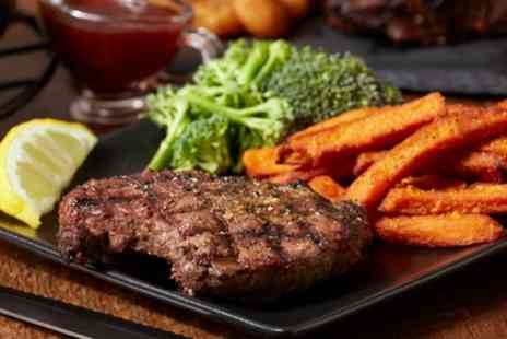 The Steak Out - 12oz Steak with Chips, Salad and Drink for One, Two or Four - Save 44%