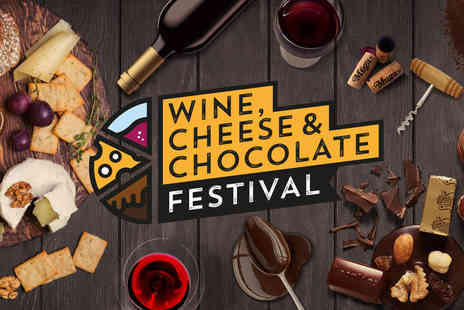 Mega Events - VIP ticket to the Wine, Cheese and Chocolate Festival with a drink token and queue jump - Save 50%