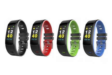 HXT Goods - Smart Bluetooth Watch With Heart Rate Monitor Choose 4 Colours - Save 71%