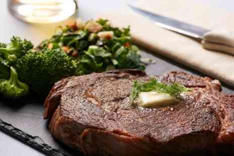 VIP Wine Bar And Grill - 10oz Steak Meal with Wine for Up to Four - Save 41%