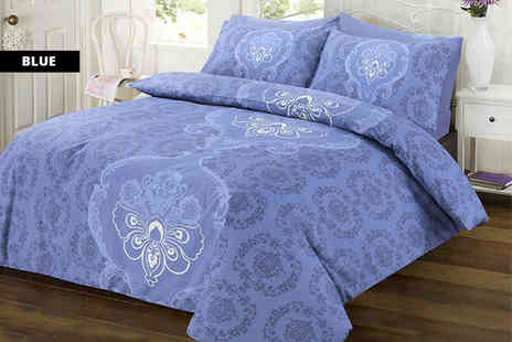 E Home Store - Single, double, king or super king size paisley duvet cover set - Save 52%