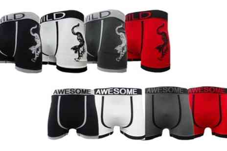 Groupon Goods Global GmbH - Six Pack of Mens Seamless Boxer Shorts in Choice of Design - Save 0%