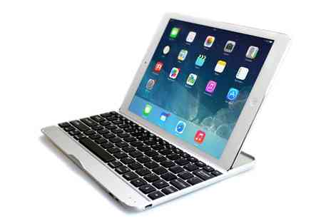 Groupon Goods Global GmbH - Aluminium Bluetooth Keyboard Case for iPad with Optional Earphones or Charging Cable - Save 0%