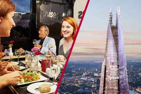 Buyagift - Entry to The View from The Shard and a two course Thames Lunch Cruise for two people - Save 0%