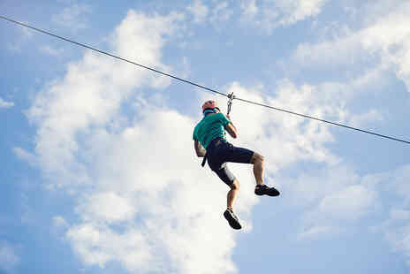 The National Diving & Activity Centre - Zip wire ride, or two zips - Save 50%