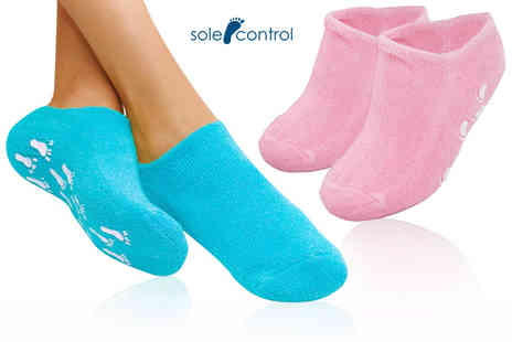 Sole Control - Pair of moisturising socks choose from two colours - Save 64%