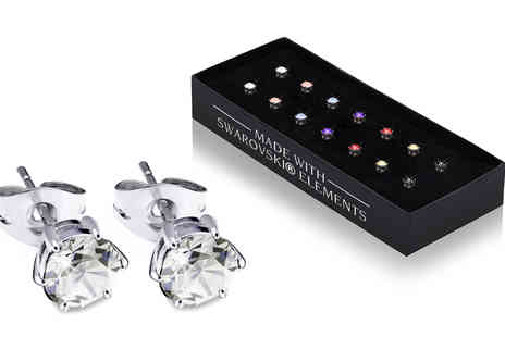 Lily Spencer - Seven pairs of crystal earrings - Save 90%