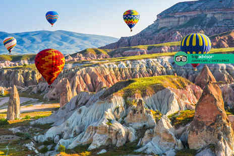 Via Holiday - Four night Cappadocia trip with hot air balloon ride and flights or seven night trip including four nights - Save 25%