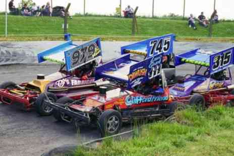 Mendips Raceway - One or two adult or one family ticket to Stock Car and Hot Rod racing on 30 September - Save 54%