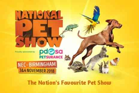 National Pet Show - Ticket to National Pet Show on 3 or 4 November - Save 25%