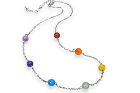 Lily Spencer London - Chakra seven stone necklace - Save 88%