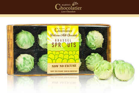 Martins Chocolatier - One or two pack of chocolate Brussel sprouts - Save 73%