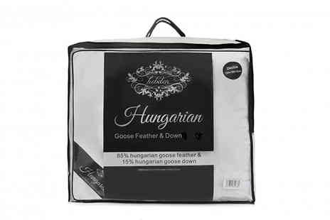 Direct Warehouse  - Hungarian Goose Feather and Down Duvets 4 Sizes - Save 50%