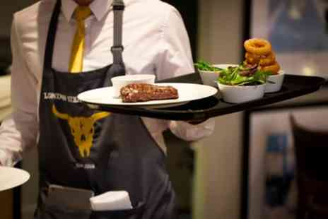 London Steakhouse Company - Three Course Dining with Cocktail, Side or Both for Two - Save 49%
