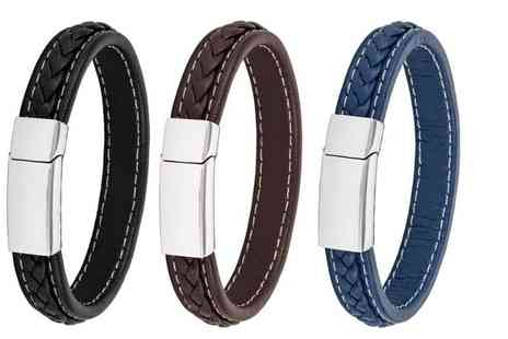 GameChanger Associates - A genuine leather honour bracelet choose from three colours - Save 82%