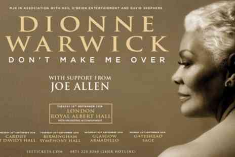 Alchemy Promotions - Dionne Warwick Ticket on 18 to 24 September - Save 26%