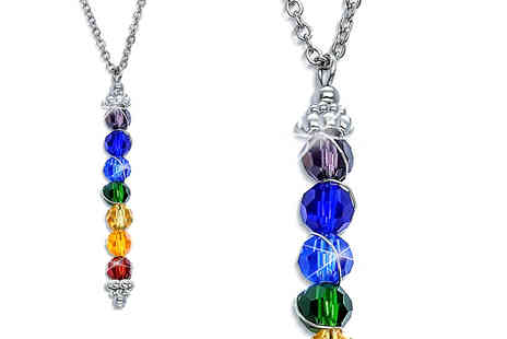 Lily Spencer - Multi coloured chakra stacking necklace - Save 83%
