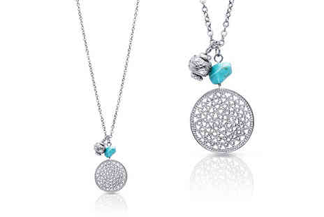 Lily Spencer - Turquoise accented pendant necklace - Save 78%