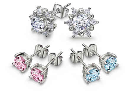Lily Spencer London - An interchangeable crystal earring set - Save 83%
