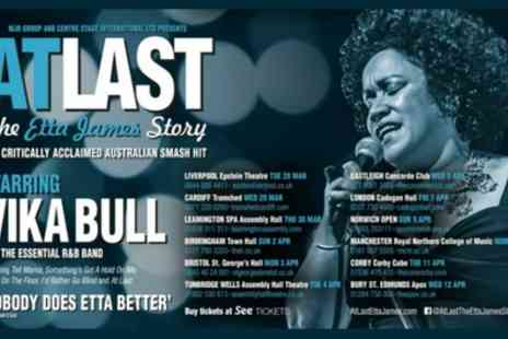 Alchemy Promotions Limited - Two best available tickets to At Last The Etta James Story on 21 September To 22 October - Save 50%