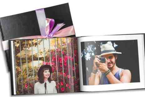 Printerpix - 20, 40 or 60 Page Leather Valentino Photobooks - Save 76%
