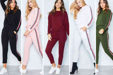 Blu Fish - Two piece matching striped tracksuit choose from five colours - Save 76%
