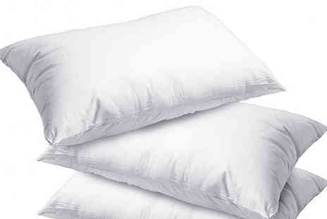 Fusion - 4 or 8 Luxury Super Bounce Back Pillows - Save 75%