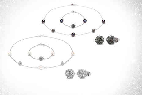 Lily Spencer London - Crystal ball jewellery trio choose from two colours - Save 0%