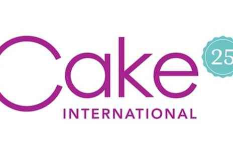 ICHF - One adult ticket to Cake International on 2 To 4 November - Save 50%