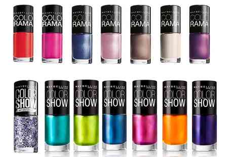 Groupon Goods Global GmbH - Ten Maybelline Colorama or Color Show Assorted Nail Polishes - Save 0%