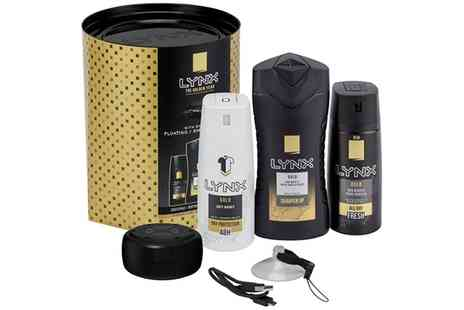 Groupon Goods Global GmbH - One or Two Lynx Gold Trio with Shower Speaker Gift Sets - Save 0%