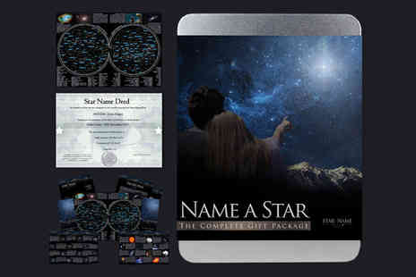 Star Name Registry - Name a Star gift tin Plus Delivery is Included - Save 50%