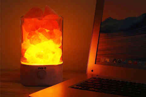 ViVo Technologies - Colour changing LED Himalayan salt lamp choose from two styles - Save 73%