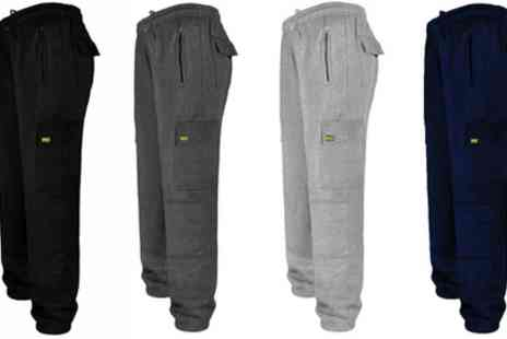 Groupon Goods Global GmbH - MIG Cargo Jogging Bottoms with Knee Pads - Save 0%