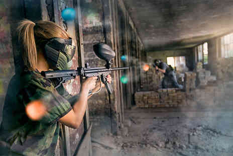 Zap Combat Centre - Low impact paintballing game with a light lunch for up to ten people - Save 86%