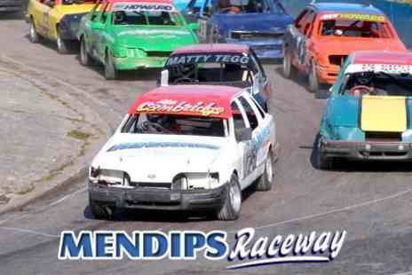 Mendips Raceway - Two Adult and Three Children Passes to Crashmania - Save 60%