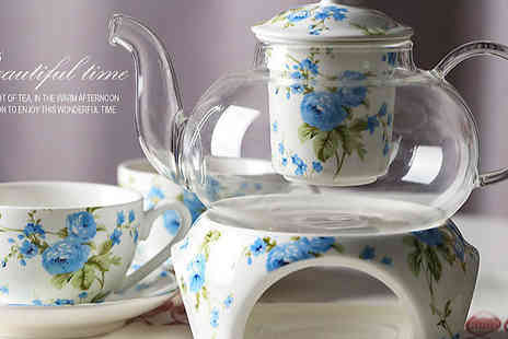 Buy Something - Floral China Tea Set Choose from 2 Colours - Save 30%