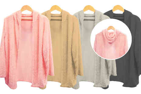 Buy Something - Fluffy hooded cardigan - Save 59%
